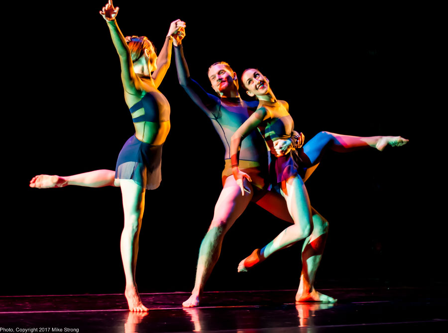 Photo by Mike Strong (KCDance.com) - Bach'd - Maria Halll, Trey Johnson, Hannah Wagner on stage