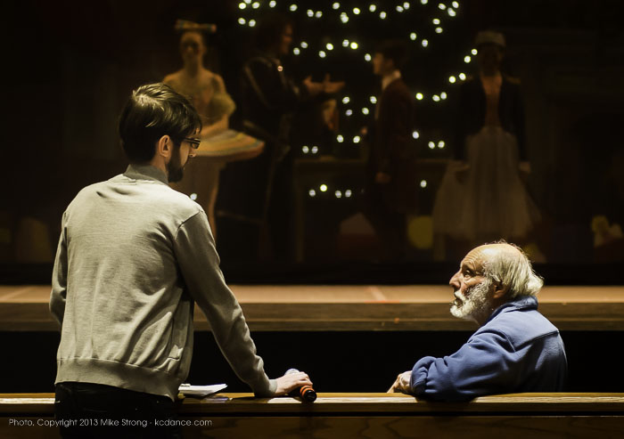 Photo by Mike Strong (kcdance.com) - Director Kristopher Estes-Brown and conductor James Funkhouser conferring