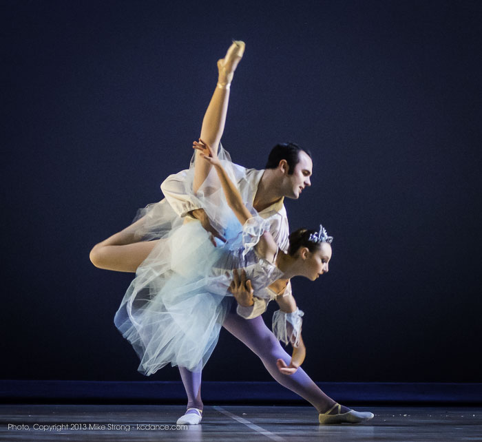 Photo by Mike Strong (kcdance.com) - Erik Sobbe (Snow King) and Molly Cook (Snow Queen, 2 pm)