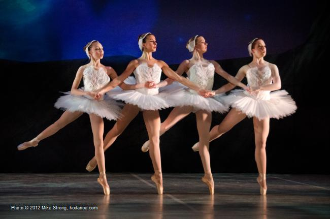 Our four cygnets: Molly Cook, Katy Hagen, Jessica Brown, Sydney Wilson - Swan Lake by the American Youth Ballet (of American Dance Center in Overland Park, KS) May 12, 2012 - photo Mike Strong