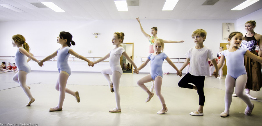 Cinderella rehearsal at American Youth Ballet