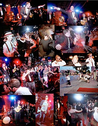 Collage of Dave Stephens CD Release Party