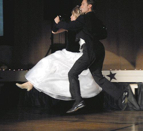 Quickstep - Colleen King and Brandon White - Dancing With The Stars - Higginsville Style, Higginsville, Missouri (fundraiser July-Aug 2008)