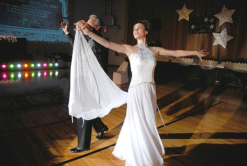 Waltz in the mode of Johnny Cash - Mike McGhee and Whitney White - Dancing With The Stars - Higginsville Style, Higginsville, Missouri (fundraiser July-Aug 2008)