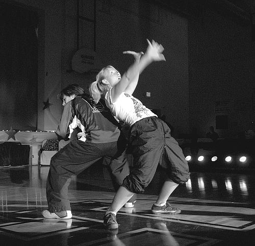 Brandon White and Colleen King in hip hop routine  for the show for the fourth event in Higginsville Dancing With the Stars - 12 august 2008