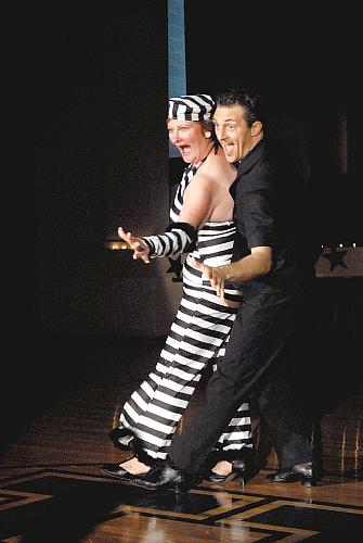 Janice Hoeffer and Louis Bar swing to JailHouse Rock 15 July 2008 in Dancing With The Stars Higginsville Style