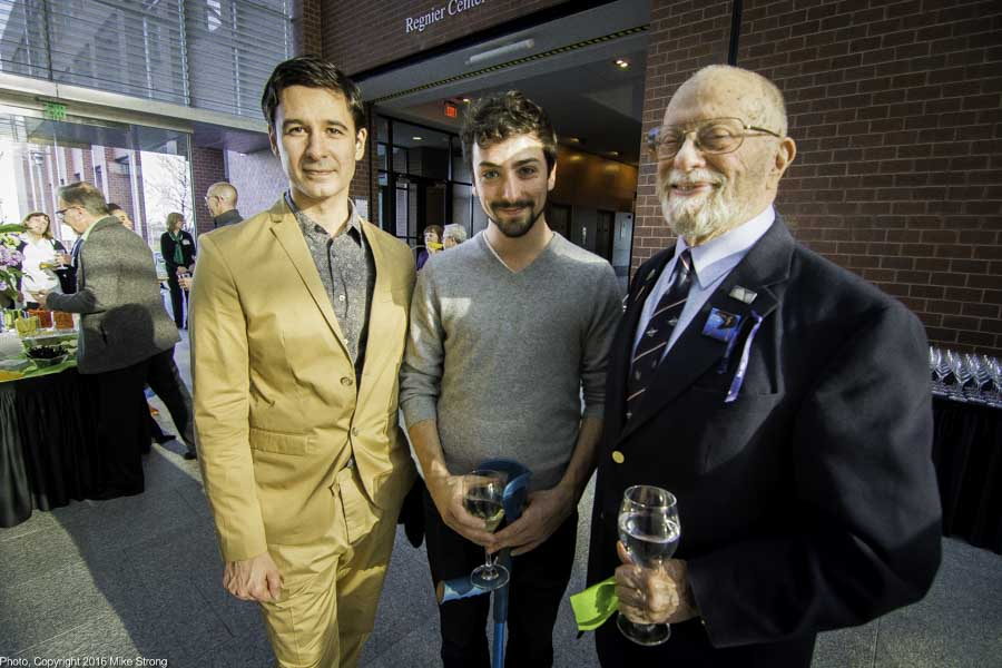 Jonah Bokaer, James McGinn, George Langworthy at the reception before the performance