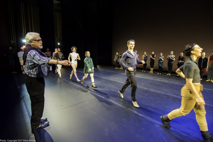 Rehearsing Bows, directed by Michael Uthoff (left), artistic advisor for New Dance Partners