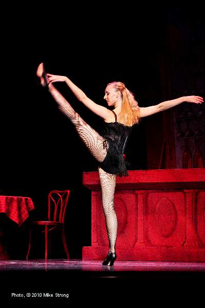 Aisling Hill-Conner as the stripper in Slaughter on Tenth Avenue by George Balanchine - Kansas City Ballet  October 2010 - photo copyright Mike Strong - ballet copyright Balanchine Foundation