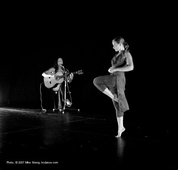 Karim Memi (musician) and Lindsay Spilker Tate in Desgarrada: Choreography Michelle Diane Brown - Kacico - Song and Dance Project
