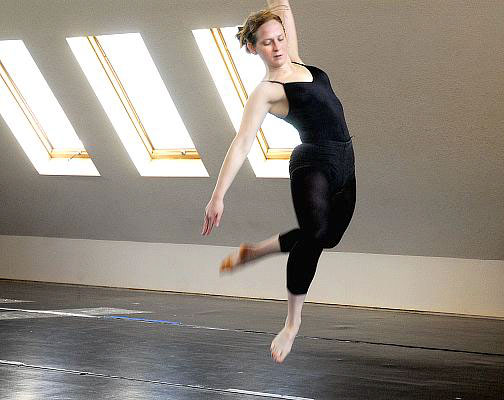 Kacico dancer Lindsay Spilker Tate during rehearsal/workshop at Kacico Dance studio