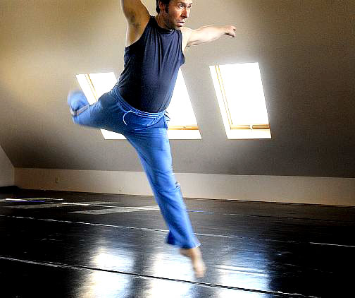 Peter Kalivas during workshop with Kacico Dance