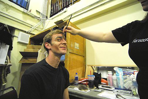 Ben Biswell getting made up as the Prince of Verona for the spring 2008 Kansas City production of Romeo and Juliet (Choreography Ib Anderson, Music Sergei Prokofiev)