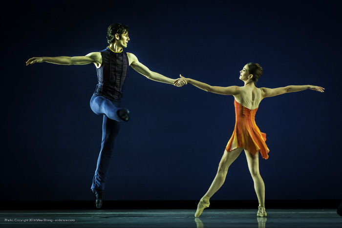 Geoffrey Kropp and Angeline Sansone in Concertino by Amy Seiwert for KC Ballet