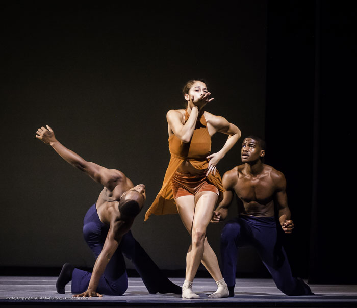 Maleek Washington, Alessandra Perdichizzi and Kevin Tate in Heart Thieves by Robert Moses for Wylliams-Henry Contemporary Dance Co.
