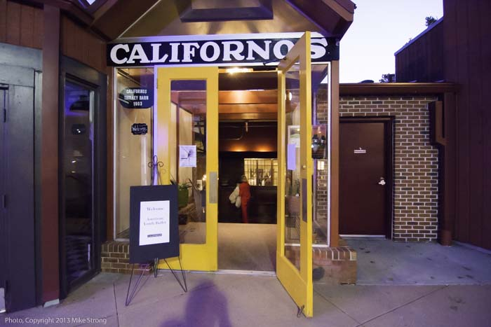 Californos south-end entrance leading directly to the event