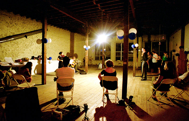 Tango Milonga at Fahrenheit Gallery in the West Bottoms warehouse district, 1997 with Duo Lorca playing