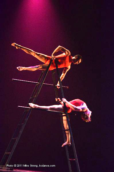 Laddertime by Paula Weber: Erik Sobbe on top, Michael Tomlinson at bottom