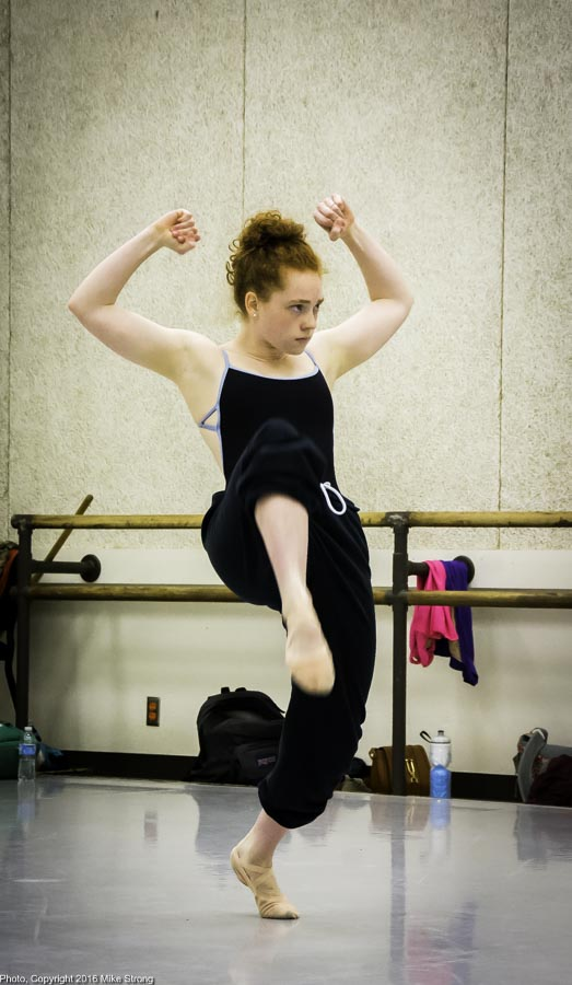 Studio rehearsal - Sarah Fragenberg in Twisted Metal by Gregory Dawson