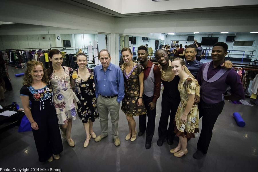 Dancers in the show with Bill Shapiro just before the show run on Thursday afternoon at 3 pm.