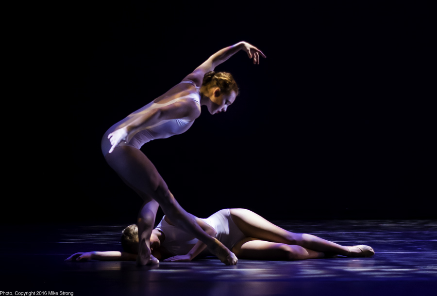 "Sarah Frangenberg (standing) and Hannah Wagner in ""To Each Her Own"" by Paula Weber"