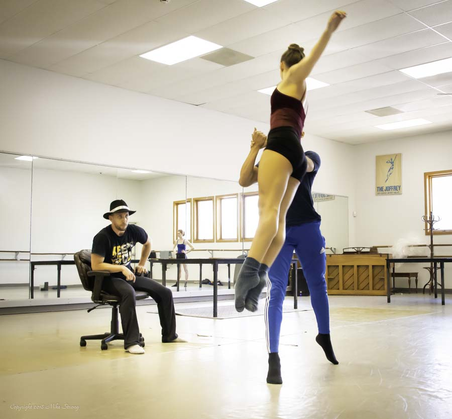 studio rehearsal for Alibi - Ben Rabe, Malerie Moore and José Soares with Concept Zero